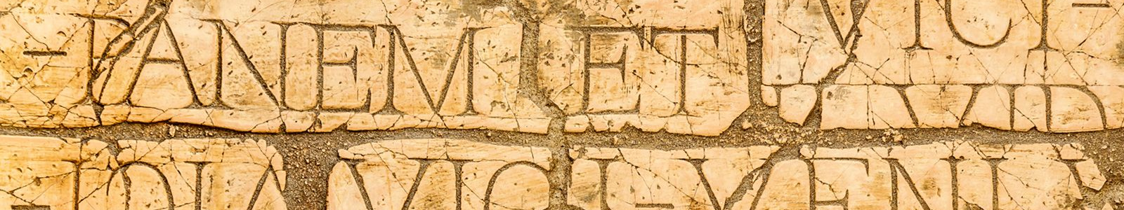 Latin inscriptions and Roman letters. (Image credit: Shutterstock).