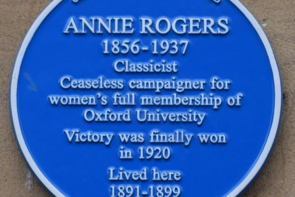 blue plaque for annie rogers classicist