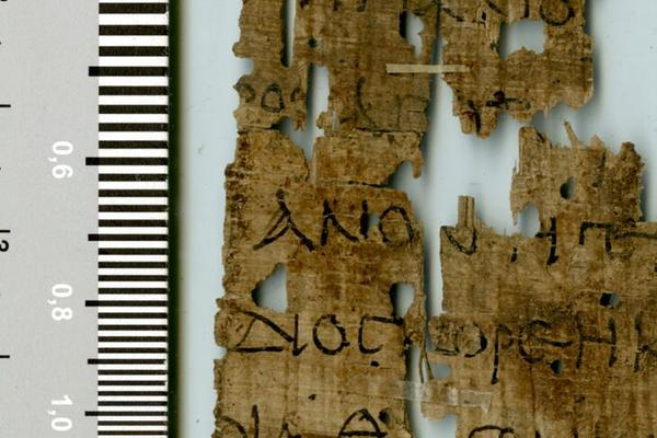 The problem: the script looks early (1st century AD), but the content (Martyrdom of St Dioscorus) proves that the text was copied under Diocletian or later. Archaism or simple incompetence? (P.Oxy.3529; ©Egypt Exploration Society)