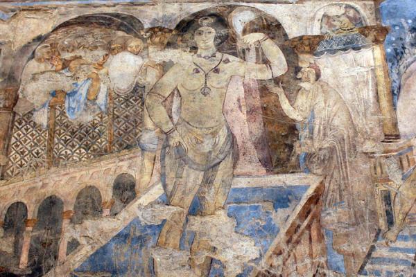 Early Islamic wall-painting in Qusayr Amra bathhouse, Jordan