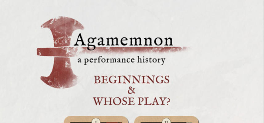 agamemnon a performance history