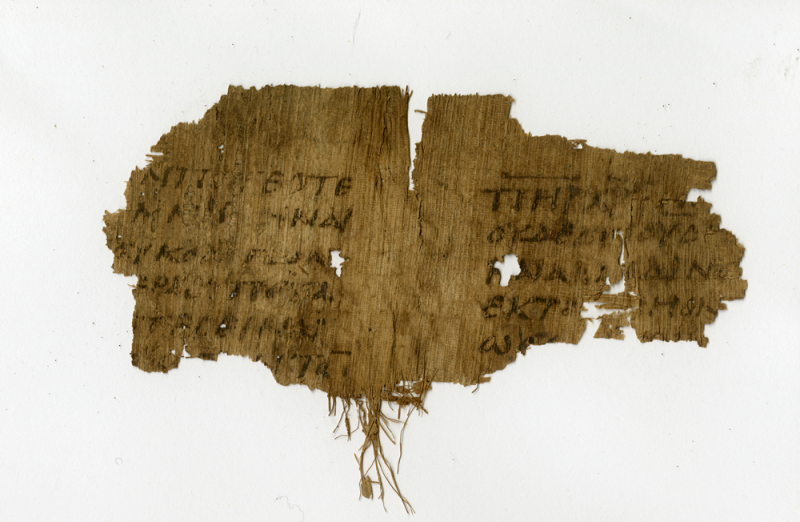 P.Oxy. 2067: fragment of a fifth-century papyrus codex containing the Nicene Creed. Courtesy of the Egypt Exploration Society. Photographer: Daniela Colomo