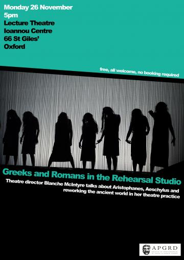 greeks and romans in the rehearsal studio 26 november